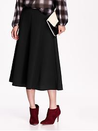High-Rise Fluted Midi Skirt