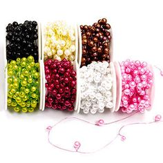 Colored beads on wire for flower design work, via Floral Supply Syndicate