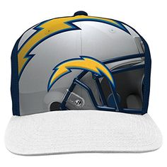 NFL San Diego Chargers Boys 820 Stealth Flat Brim Hat with Mesh Back Youth  One Size 44e537536a7