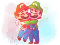 Mario and Luigi are bros for a reason. Super Mario Art, Super Mario World, Mario Y Luigi, Nintendo Game, Childhood Games, Super Mario Brothers, Super Smash Bros, Fan Art, Deviantart
