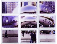 9 polaroids - Chicago Cloud Gate Sculpture - Maison Gray | The House of Gray Malin Photography
