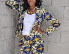 Cortos de impresión africana EL LEAH pantalones CORTOS
