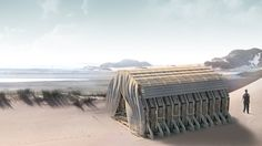 TU delft arch-students developed sustainable euro-pallet pavilion