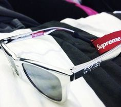Rare Oakley x Supreme collab Frogskins. Shared by @camillalindberg on Instagram...