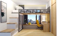 Decorate your room in a new style with murphy bed plans Room Design Bedroom, Small Room Bedroom, Bedroom Loft, Bedroom Decor, Tiny Bedrooms, Loft Beds For Small Rooms, Space Saving Bedroom, Murphy Bed Ikea, Murphy Bed Plans