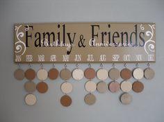 Birthdays & Anniversaries Calendar, Family Birthday Board, Family Celebrations