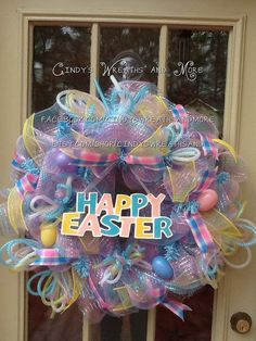 Happy Easter Wreath Easter Wreath Spring by Cindyswreathsand
