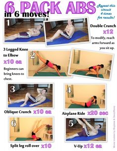 6 Pack Abs Workout in-shape     #workout