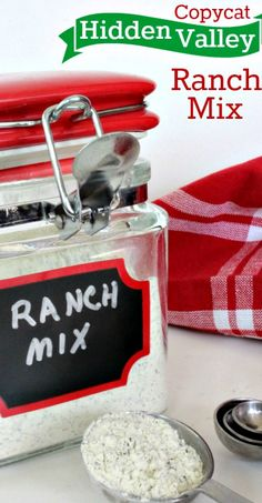 Copycat Hidden Valley Ranch Mix Recipe ~ So simple to make at home. Great for dips, dressing and for cooking with main dishes. Saves $$'s too!