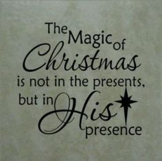"""The magic of Christmas..."""