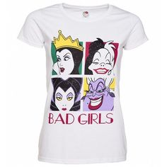 Princesses are overrated! If you're drawn to the bad gals, this awesome Disney Villains t-shirt is a must have. Featuring all your fave Disney Divas.you'll be the talk of the castle. Disney Outfits, Retro Outfits, Disney Clothes, Disney Shirts For Family, Shirts For Girls, Disney Divas, Wonder Woman Logo, Disney Villains, Disney Style