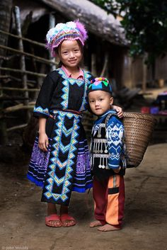 H'mong siblings in Luang Prabang, Laos...