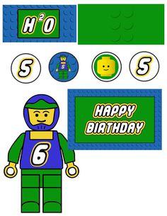 lego birthday party accessories blue  by tinyshopofrandoms on Etsy, $11.00
