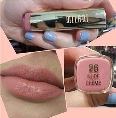Beautiful pinky nude lipstick by Milani .. Nude Creme #lipstick #nude #pink