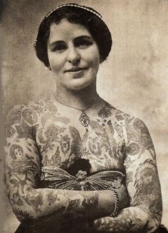 vintage tattooed woman*