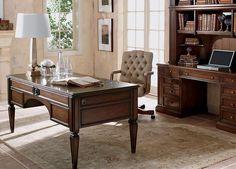 Buckley Leather-Top Desk