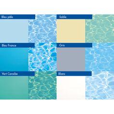 Couleur d 39 eau liner gris clair nacr piscine pinterest for Couleur de liner de piscine