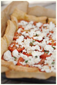Goat Cheese Tomato on Puff pastry...made this it was a huge sucess.....awesome and easy