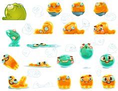 Mobile game art by Tiffanie Hwang at Coroflot.com