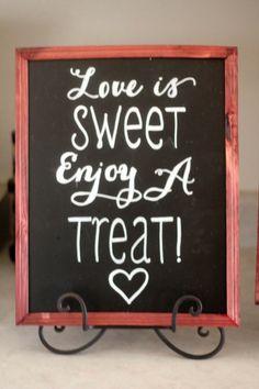 Wedding Dessert Table Decorations & Ideas. Chalk Board. http://www.exposinthecity.com/