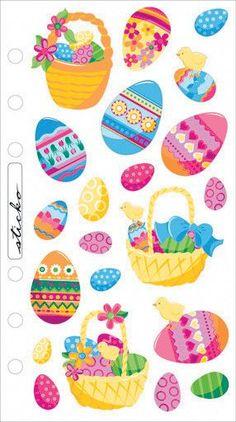 Sticko Seasonal Stickers-Easter Eggs