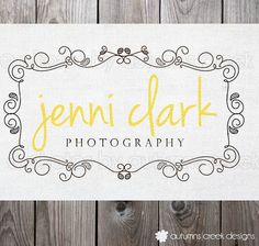 This is particularly my style with the handwritten type finished of/ balanced with a strong serif font.I would have fixed the spacing issue with jennie with the space above the filigree, maybe it's because of the L in clark being too tall and taking up that room, Maybe balance it with an upper case J. And I would have switched the yellow to a darker shade because it gets lost against the white.