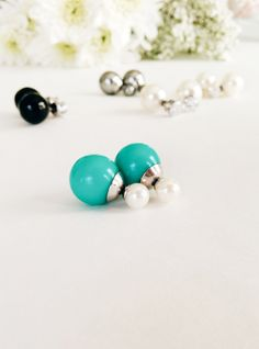 Pearl and turquoise, CZ and black onyx or CZ and pearl... we just want all of these 360 studs!