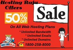 vail 50% Off All Web Hosting Plans by Hosting Raja. Hurry Offer Valid For Limited Time. For more details please visit us @ http://www.hostingraja.in/buy-web-hosting/ or call us @ 1800-258-8000