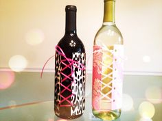 DIY corset wine bottles for a bachelorette party- yes! and then flowers in the bottles!