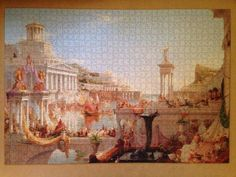 Thomas Cole The Course of Empire: Consummation 1836  Pomegranate Artpiece Puzzle 1000 pieces