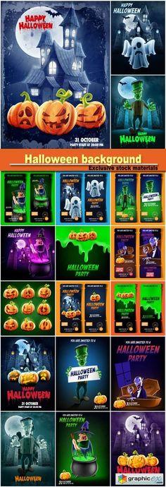Halloween vector background design