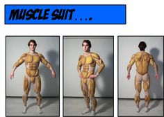 Superhero Muscle Suit by Holly Link at Coroflot.com Comic Con Costumes, Mascot Costumes, Cool Costumes, Cosplay Costumes, Lolita Cosplay, Cosplay Diy, Halloween Cosplay, Halloween Costumes, Predator Costume