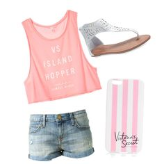 A fashion look from January 2015 featuring Victoria's Secret tops, Wet Seal sandals and Victoria's Secret tech accessories. Browse and shop related looks.