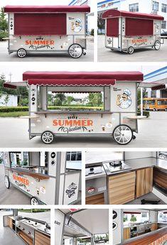 Food Stall Design, Food Cart Design, Food Truck Design, Portable Food, Portable House, Coffee Shop Design, Cafe Design, Food Truck Interior, Mobile Food Cart