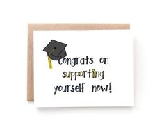 congratulations card college graduation by yellowdaisypaperco