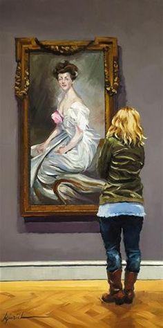 "Daily+Paintworks+-+""In+Vogue""+-+Original+Fine+Art+for+Sale+-+©+Karin+Jurick"