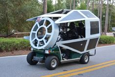 MouseSteps - Disney's Fort Wilderness Golf Cart Parade 2015 Brings Out Over 100 Carts Including Star Wars, Minion, Monorail Carts Brass Bar Cart, Golf Now, Custom Golf Carts, Bar Cart Decor, Ladies Golf, Women Golf, Golf Accessories, Golf Fashion, Golf Outfit