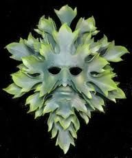 Green man mask - rather want to make one of these, but with leafy tendrils sweeping up like horns and more swirling movement in the foliage, particularly in the beard. Wonder if air drying polymer is the way to go? Wonder if I'll ever get round to it?