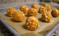 Meat(less) Balls.. Use the carrot pulp from juiced carrots. Mix with an egg, a little garlic powder, onion powder, dried herbs & cheese. Roll into balls and bake in the oven for 15 min. @ 375F.     Eat with a bed of steamed cauliflower and marinara sauce. Yum!