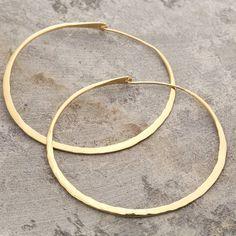 battered large gold hoop earrings by otis jaxon | notonthehighstreet.com