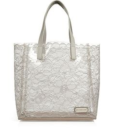 Laden in lace, this peek-a-boo carryall shopper from Marc by Marc Jacobs is a ladylike choice for everyday #Stylebop