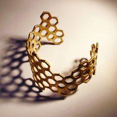 Brass Hive Cuff by Erica Schwartz #Bracelet #Erica_Schwartz