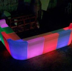 LED & Acrylic bar seating inspiration | www.peregrineplastics.com