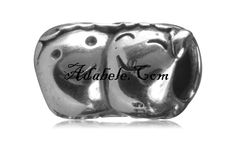 This beautiful happy heads .925 Sterling Silver European charm fits Pandora, Biagi Trollbeads, Chamilia, and most charm bracelets find out more at adabele.com
