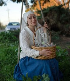Sister Darcy helps to produce the salves and tinctures in accordance with lunar cycles