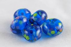 Handmade Lampwork Glass Bead Set - Monets Water Lilies