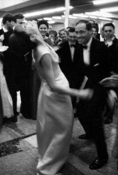 Rare Audrey Hepburn — Audrey Hepburn and Mel Ferrer let loose on the...