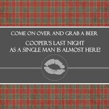 Bachelor party invitations red green and gray plaid bachelor party bachelor party invites stopboris Gallery