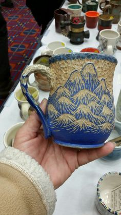 Beautiful mountain sgraffito