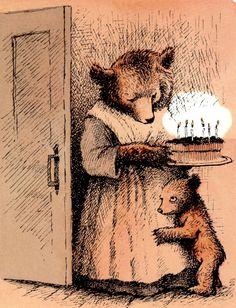 Little Bear - Illustration by Maurice Sendak - 1957